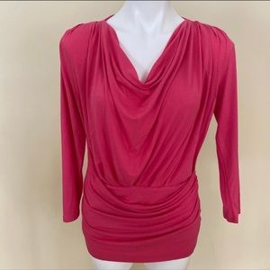 Anne Klein cowlneck long sleeve blouse